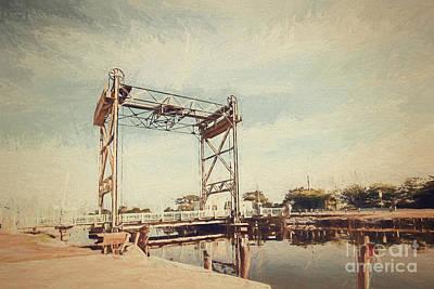 Photograph - The Bridge To Hopedale- Digital Painting by Scott Pellegrin