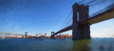 Painting - The Bridges Nyc by Thomas Logan