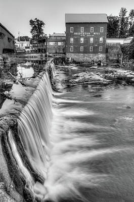 Mills Photograph - The Bridgeton Mill In Indiana - Est. 1823 - Black And White by Gregory Ballos