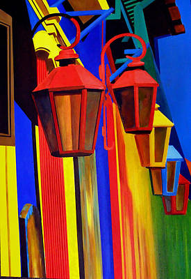 The Bright Lamps Of La Boca Art Print by JoeRay Kelley