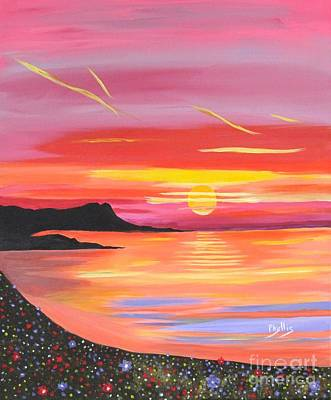 Painting - The Brilliance Of A Beautiful Sunset by Phyllis Kaltenbach