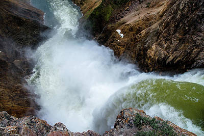 The Brink Of The Lower Falls Of The Yellowstone River Art Print