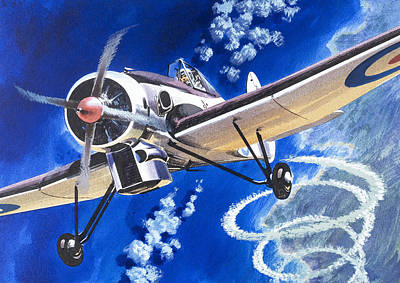 The Bristol 138a Attempts An Altitude Record Art Print by Wilf Hardy