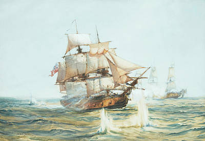 Calming The Storm Painting - The Bristol Privateer Hornet by Montague Dawson