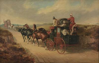 The Bristol To London Coach The Stroud Art Print