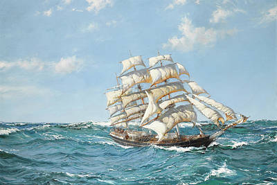 The British Ambassador Art Print by Montague Dawson