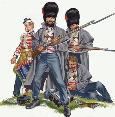 Painting - The British Army, The Battle Of Inkerman, 1854  by Ron Embleton