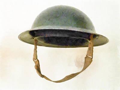 The British Brodie Helmet  Print by Steve Taylor
