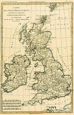 United Kingdom Drawing - The British Isles by Guillaume Raynal