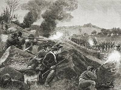 Lexington Drawing - The British Retreating From Lexington by Vintage Design Pics