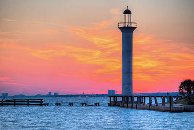 Photograph - The Broadwater Beach Marina Light by JC Findley