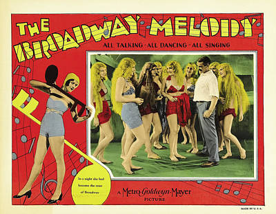Classic Film Star Mixed Media - The Broadway Melody 1929 by Mountain Dreams
