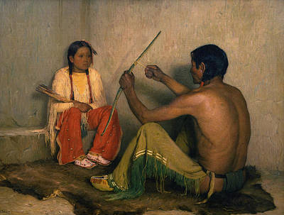 Painting - The Broken Bow by Joseph Henry Sharp