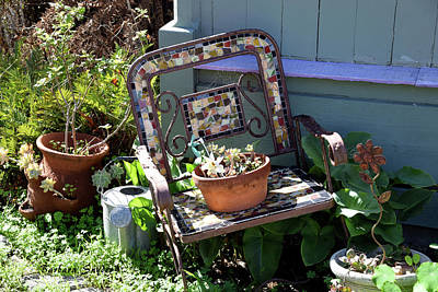 Photograph - The Broken Chair by Barbara Snyder