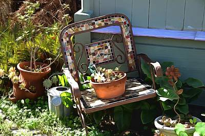 Photograph - The Broken Chair Painting by Barbara Snyder