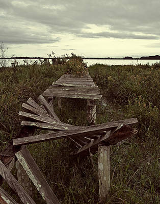 Photograph - The Broken Dock by Ron Dubin