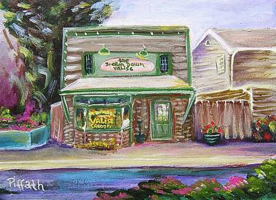 North Fork Painting - The Broken Down Valise Bar by Patricia Piffath