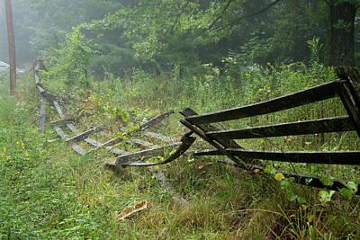 Photograph - The Broken Fence On The Ground by Douglas Barnett