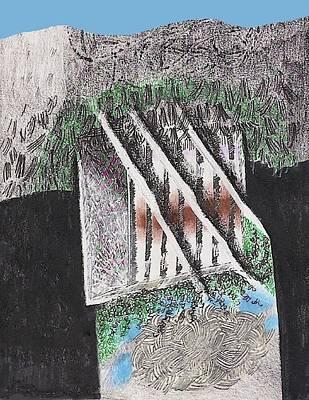 Mixed Media - The Broken Garden Gate by Al Goldfarb
