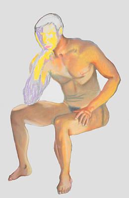 Art Print featuring the pastel The Broken Man by Jean Haynes