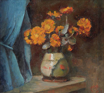 The Broken Vase Art Print by Alfred O'Keeffe