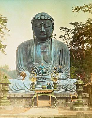 Buddha Photograph - The Bronze Buddha At Kamakura by Kazumasa Ogawa