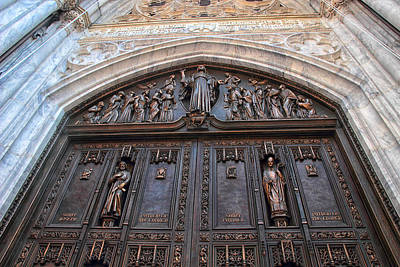 Photograph - The Bronze Doors Of St. Patrick's by Jessica Jenney