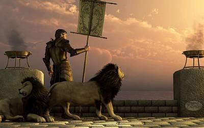 Knights Castle Digital Art - The Bronze Knight Of The Isle Of Lions by Daniel Eskridge