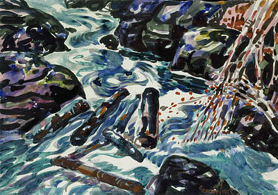 Drawing - The Brook, Nova Scotia by George Luks