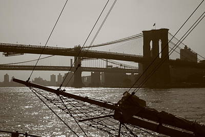 Photograph - The Brooklyn And Manhattan Bridges by Christopher Kirby