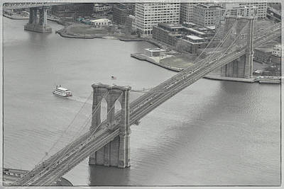 Photograph - The Brooklyn Bridge From Above by Dyle Warren