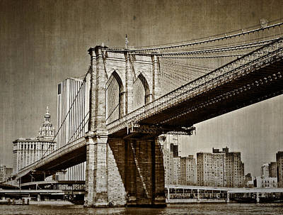 The Brooklyn Bridge Art Print by Kathy Jennings