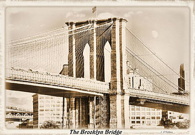 Photograph - The Brooklyn Bridge by Laura DAddona