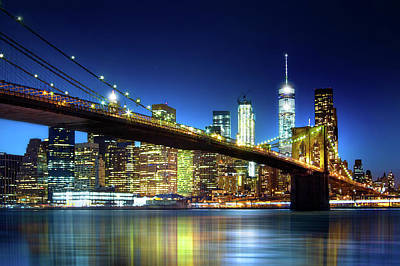 Photograph - The Brooklyn Bridge by Mark Andrew Thomas
