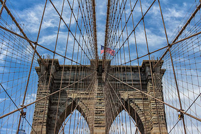 Robert Bellomy Royalty-Free and Rights-Managed Images - The Brooklyn Bridge by Robert Bellomy