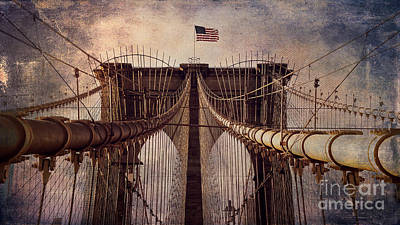 Photograph - The Brooklyn Bridge Textures by Alissa Beth Photography