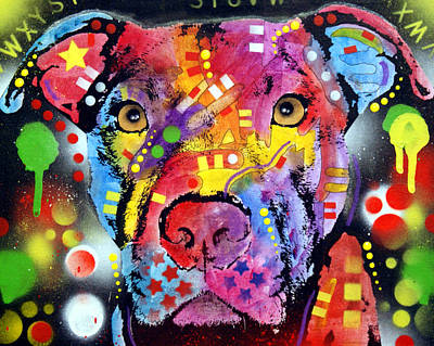 Pitbull Wall Art - Painting - The Brooklyn Pitbull 1 by Dean Russo