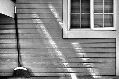 The Broom And Sunbeams Art Print by Monte Stevens