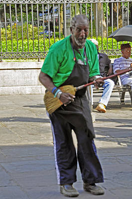Photograph - The Broom Musician by Helen Haw