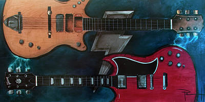 Gretsch Painting - The Brothers Young by Sean Parnell