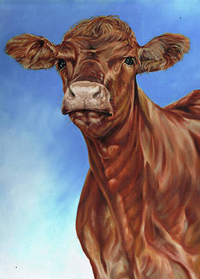 Painting - The Brown Cow by Richard Mountford