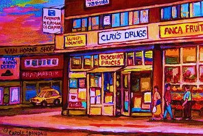 Montreal Memories. Painting - The Brown Derby by Carole Spandau