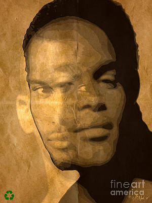 3 Portraits In One Art Print by Walter Oliver Neal