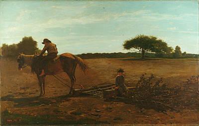 Winslow Homer Painting - The Brush Harrow by Winslow Homer