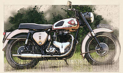 The Bsa Golden Flash Original by Don Kuing