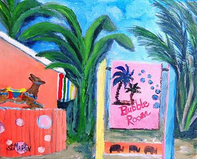 Painting - The Bubble Room Captiva Island Florida by Annie St Martin
