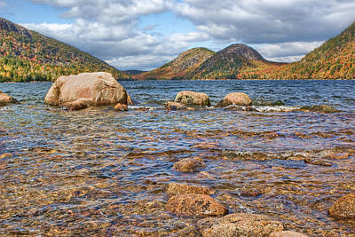 Photograph - The Bubbles - 2 - Jordan Pond - Acadia National Park by Nikolyn McDonald