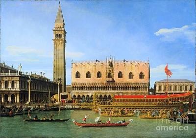 Blog Painting - The Bucintoro At The Molo On Ascension Day  by Canaletto