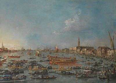 Art Of Building Painting - The Bucintoro Festival Of Venice by Francesco Guardi