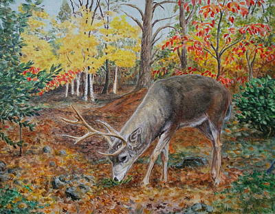 Painting - The Buck Stops Here by Michele Myers
